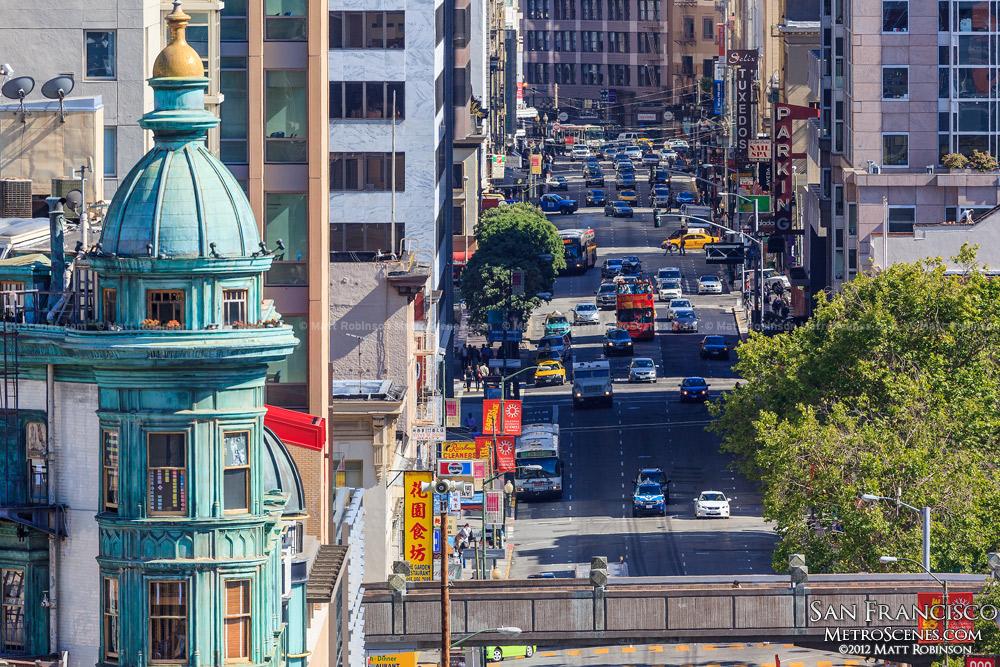 Zoom down Kearny Street