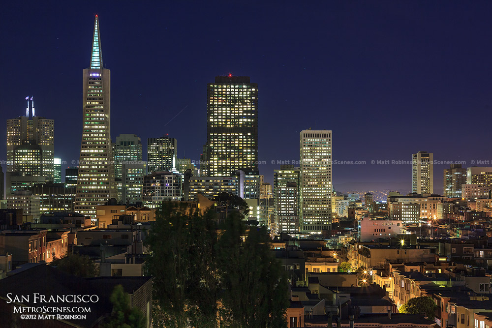 Downtown San Francisco after dark