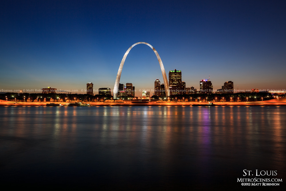 St. Louis skyline at night