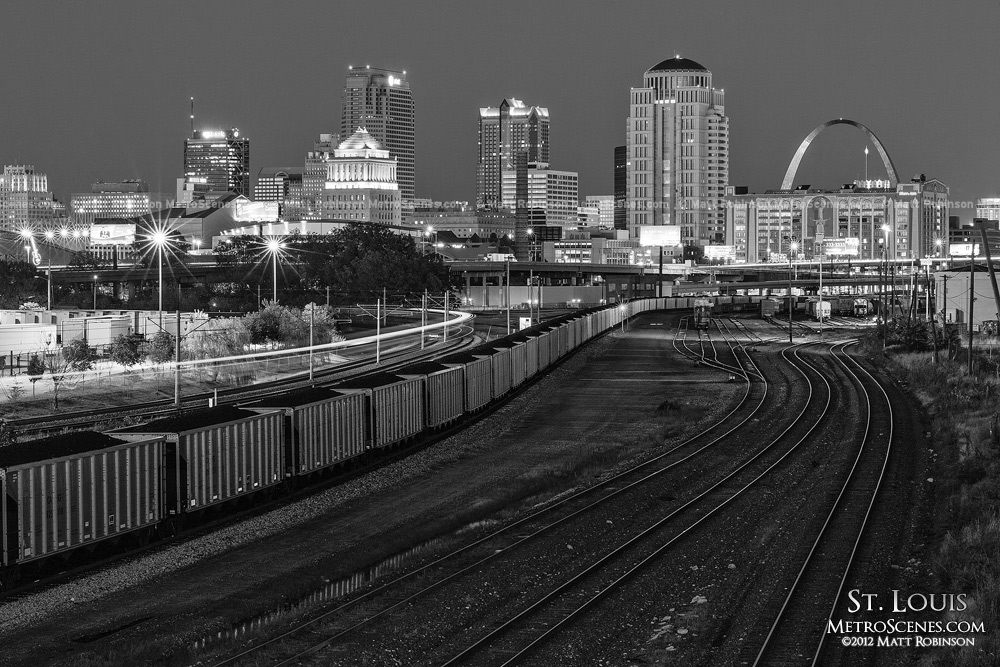 Black and white St. Louis City