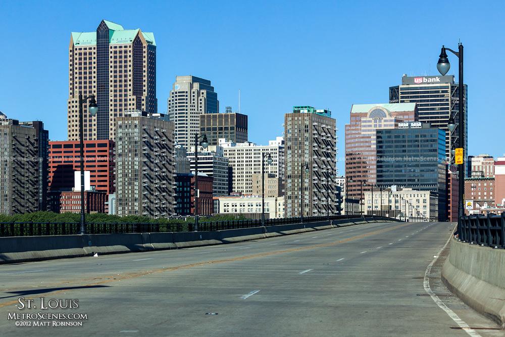 Downtown Saint Louis from the Eads Bridge