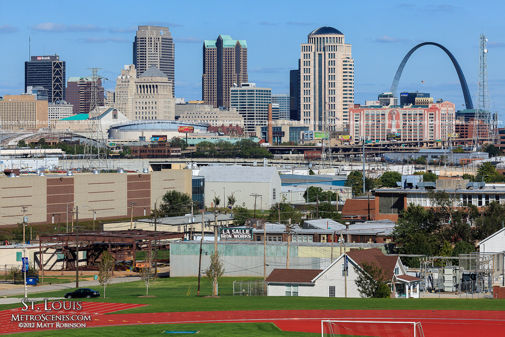 One US Bank Plaza, One AT&T Center, Metropolitan Square, and Eagleton Federal Courthouse, Gateway Arch in St. Louis