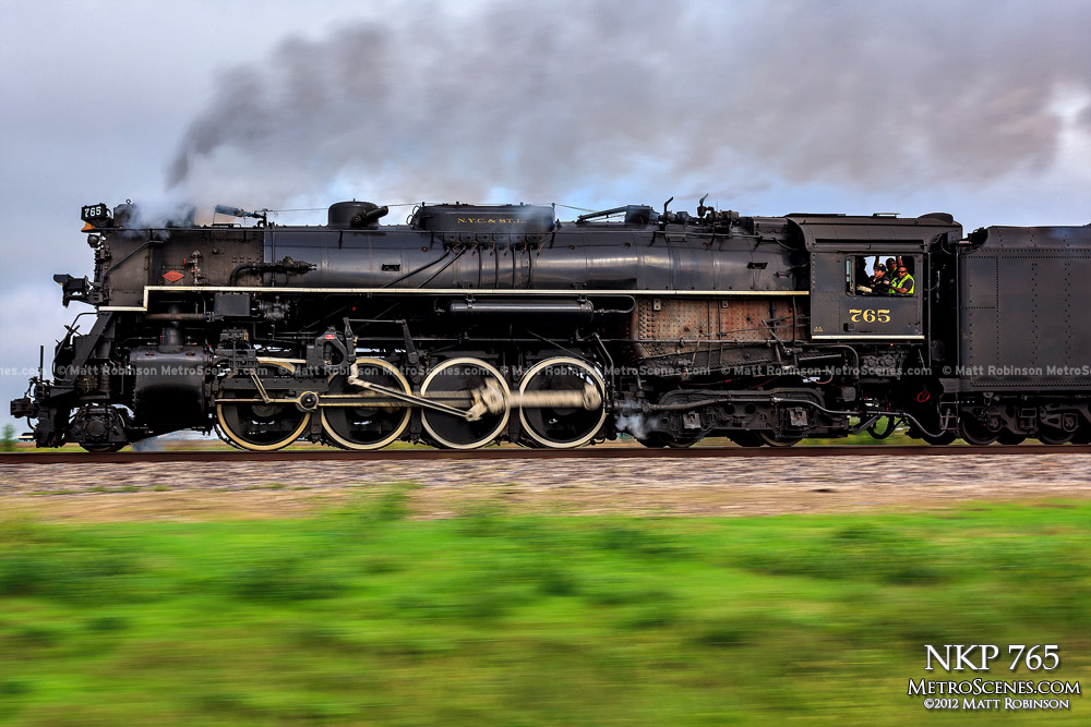 Pacing Steam Engine NKP 765 en route to St. Louis