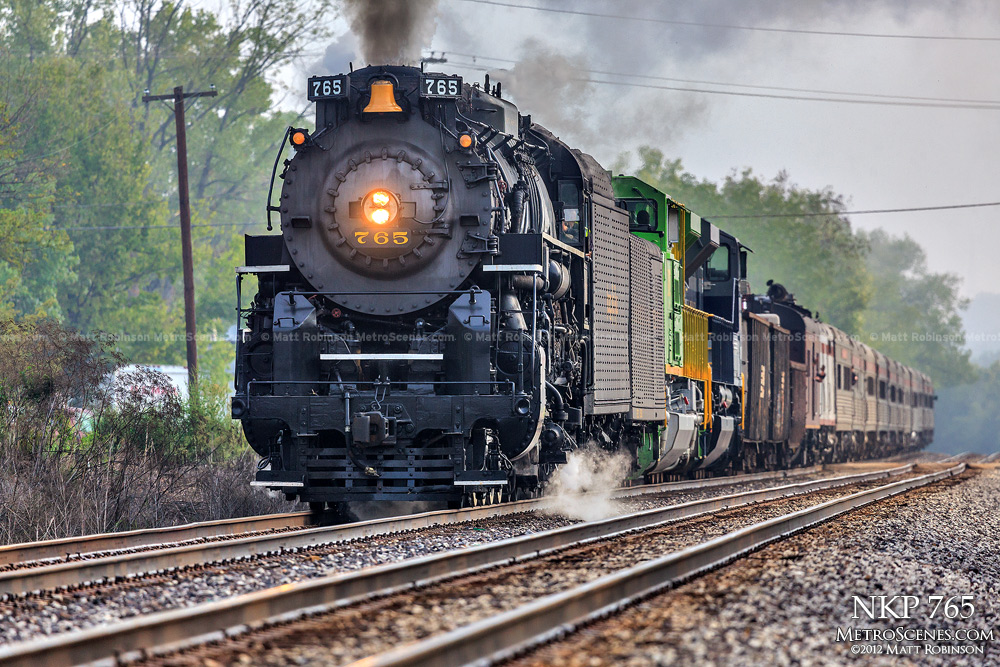 NKP 765 departs Decatur, IL