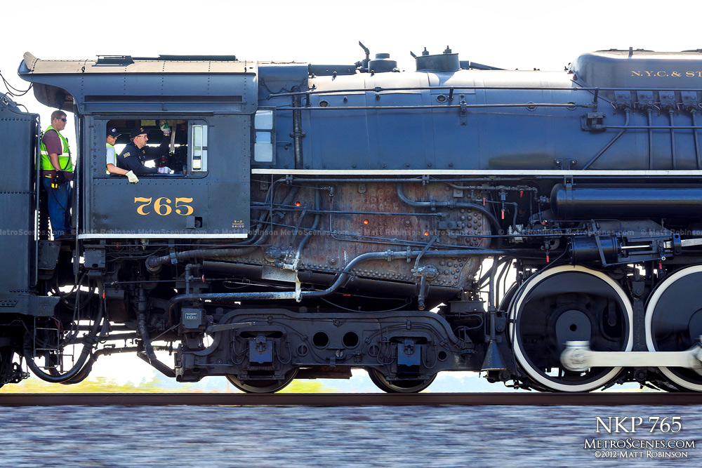 Pacing the cab of Steam Locomotive 765