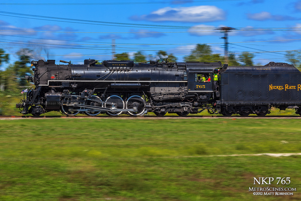 Steam Engine NKP 765 in motion