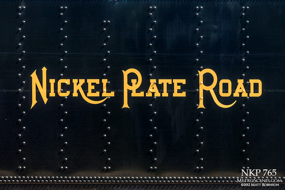 Detail of Nickel Plate Road tender 765