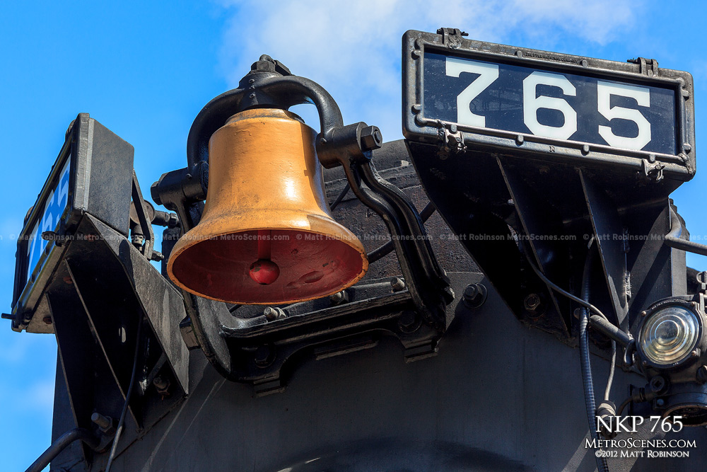 NKP 765 bell and number plate