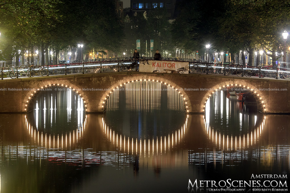 3 arched bridge over Keizergracht Canal