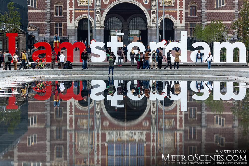 I amsterdam letters and reflection at Rijksmuseum