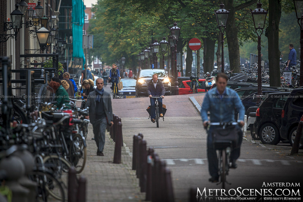 Bikers in Amsterdam