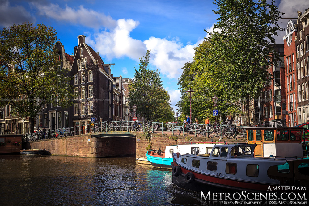 Boats and houses from Prinsengracht