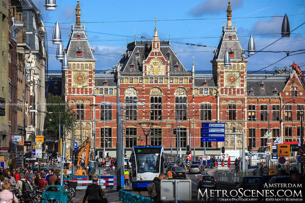 Amsterdam Centraal Station from Damrak