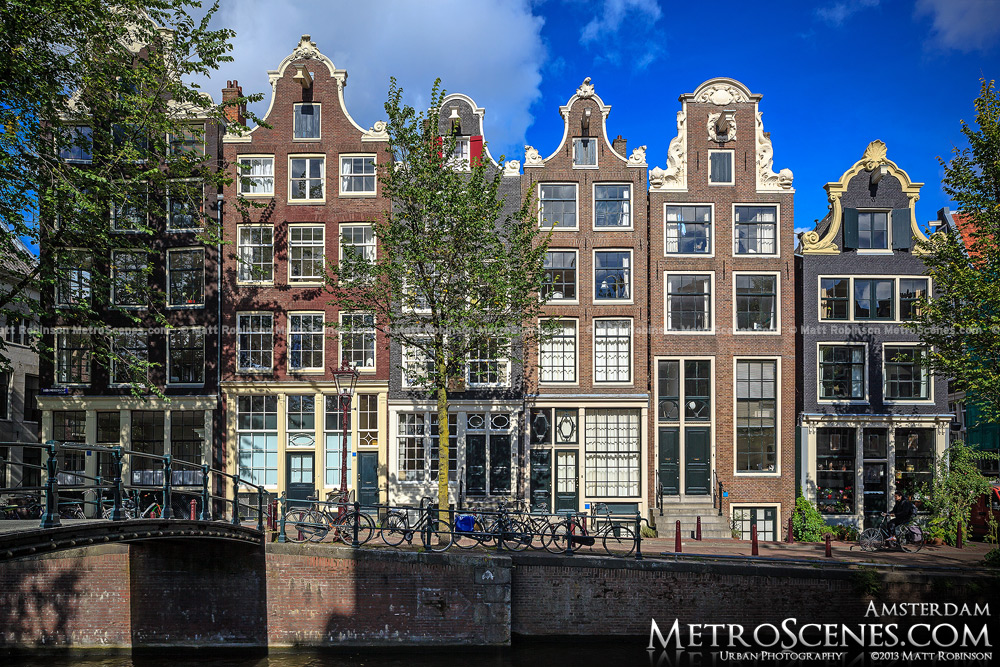 Sunny gables in Amsterdam