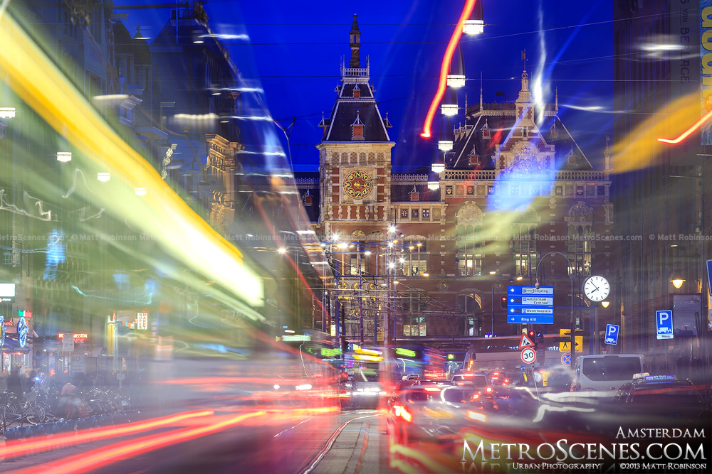 Traffic streams in Amsterdam