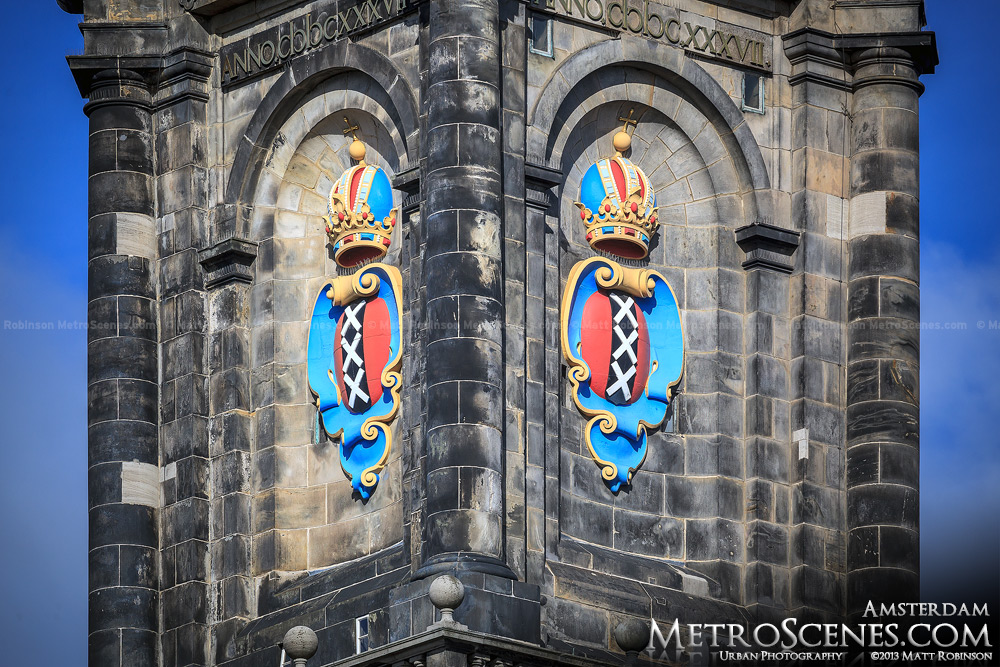 Coat of arms of Amsterdam on Westerkerk