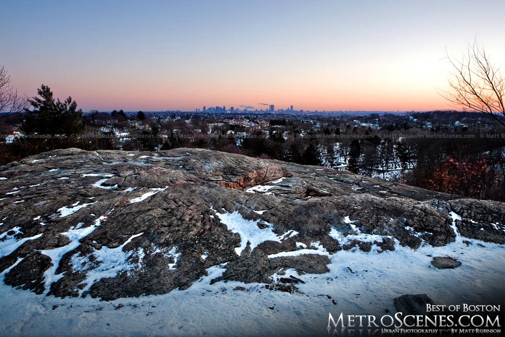 Winter Boston from Melrose
