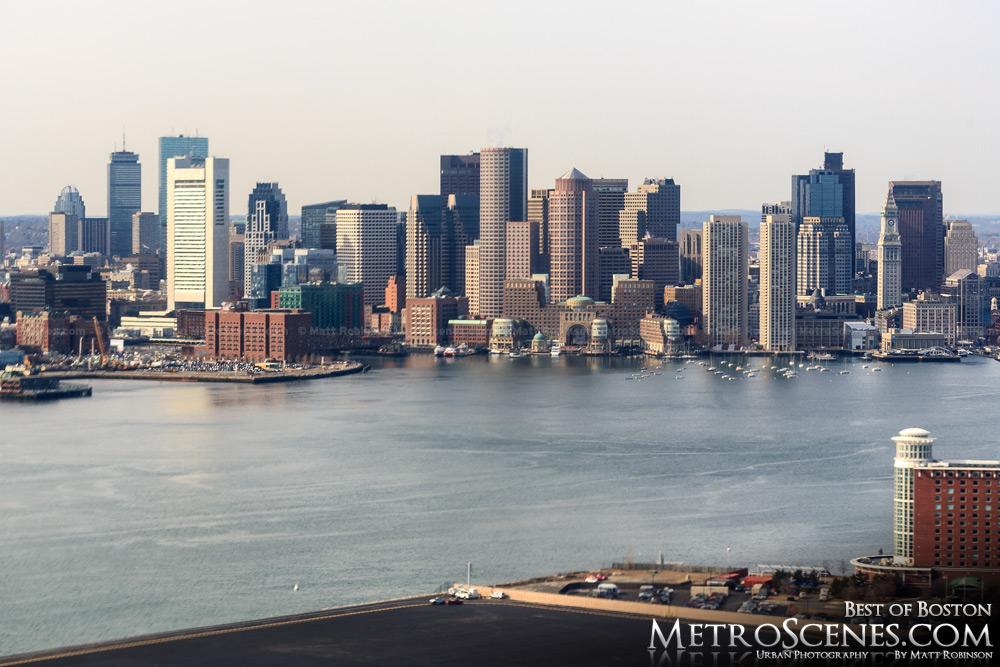 Aerial of Boston