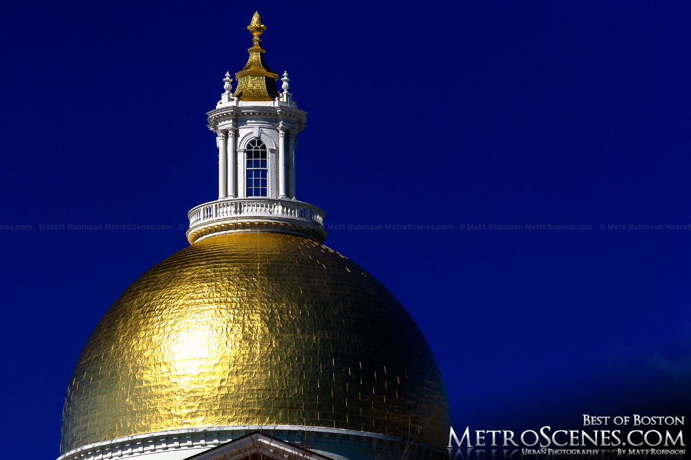 Golden dome of the Massachusetts State House