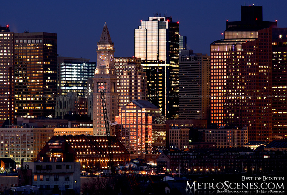 Boston at sunrise