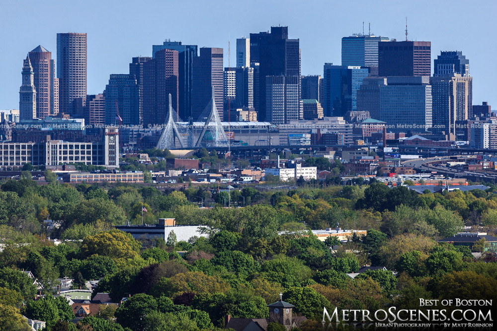 Downtown Boston Skyline seen from Medford