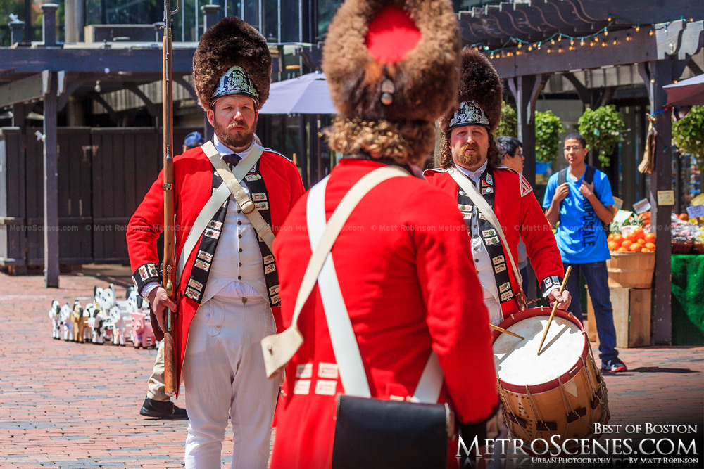 Revolutionary Reenactment at Faneuil Hall