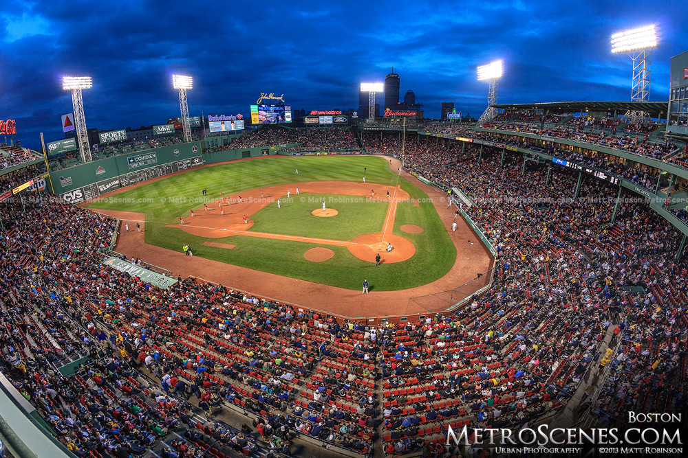 Fenway Park at magic hour