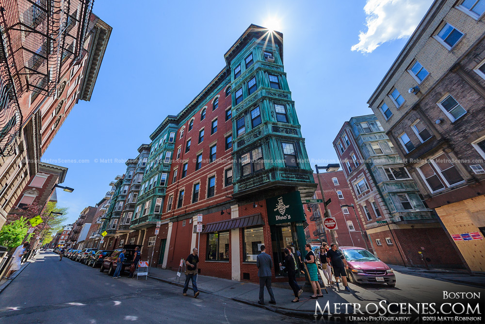 The corner of Salem and Prince Street in Boston's North End