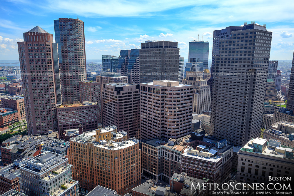 Aerial of Boston's Financial District