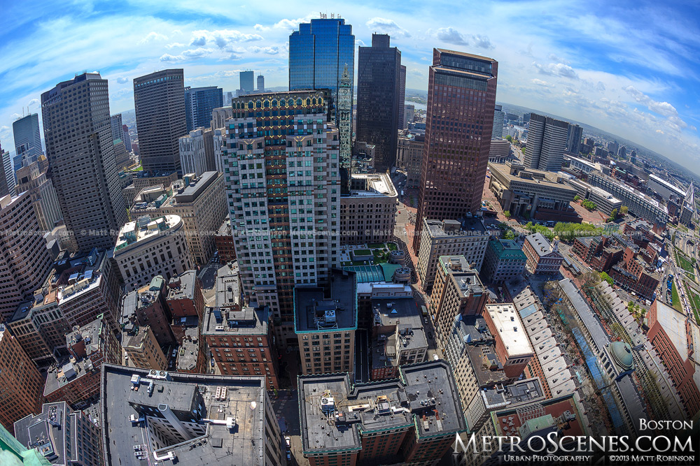 Fisheye of Boston Financial District