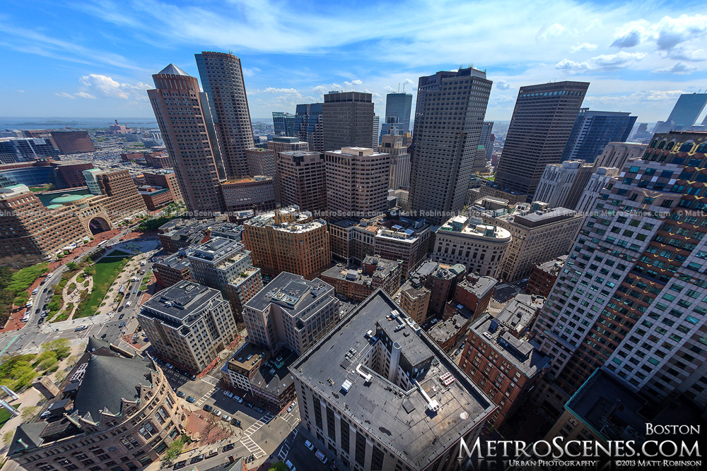 Downtown Boston Financial District from the Custom House