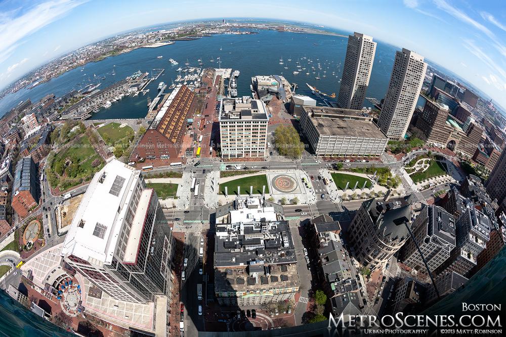 Boston Harbor from Custom House