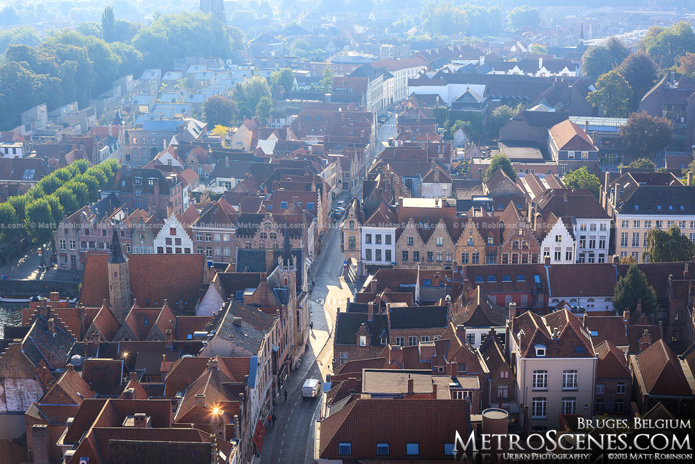 View from Bruges from the Belfrey