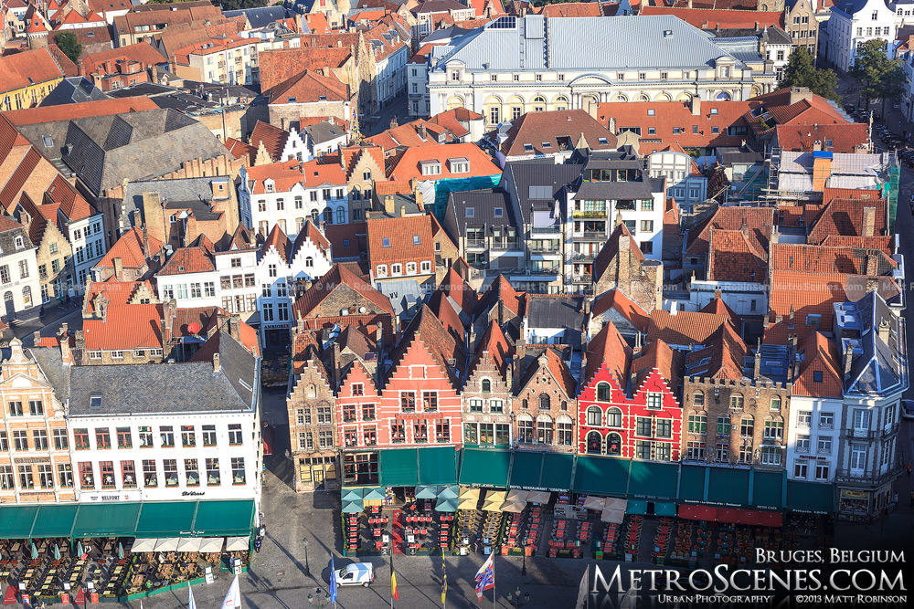 Markt Square aerial, Bruges