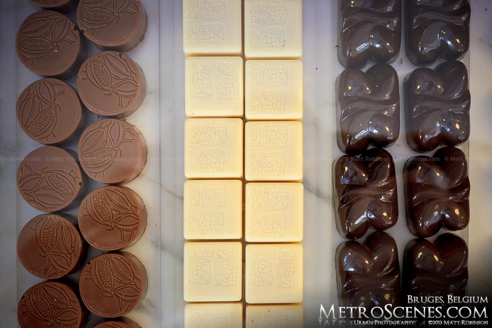 Belgian chocolate in Bruges