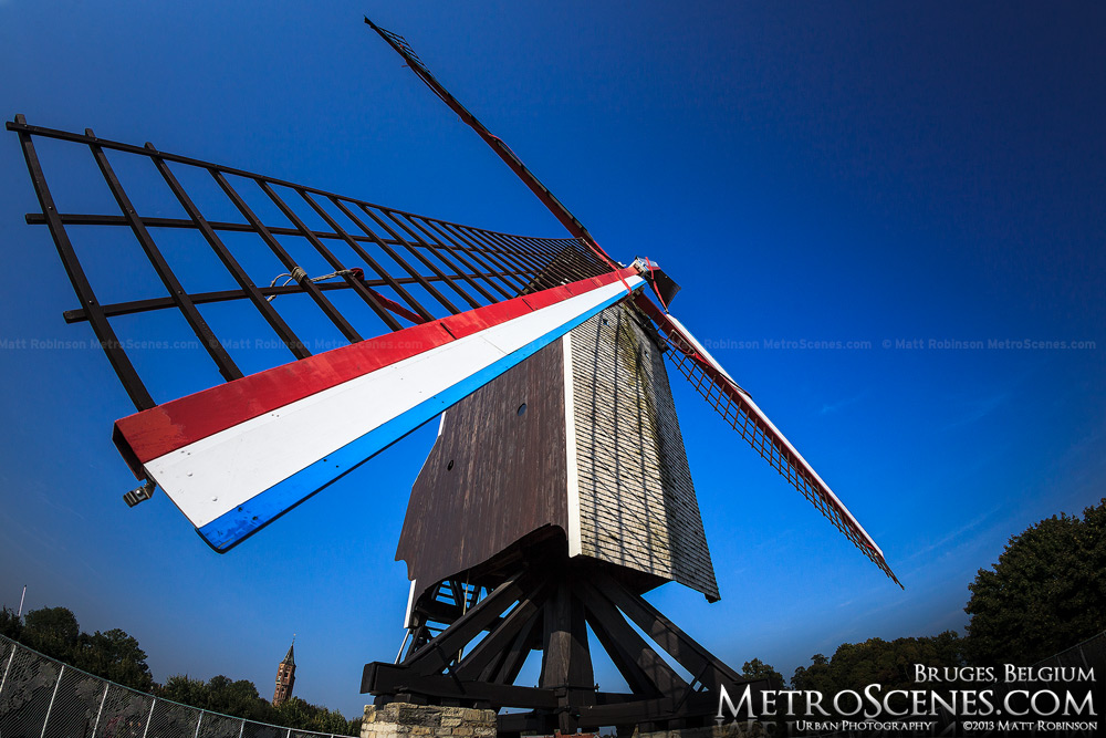 Blades of St Janshuis Windmill in Bruges