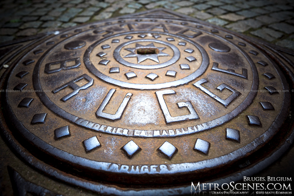 Brugge man hole cover