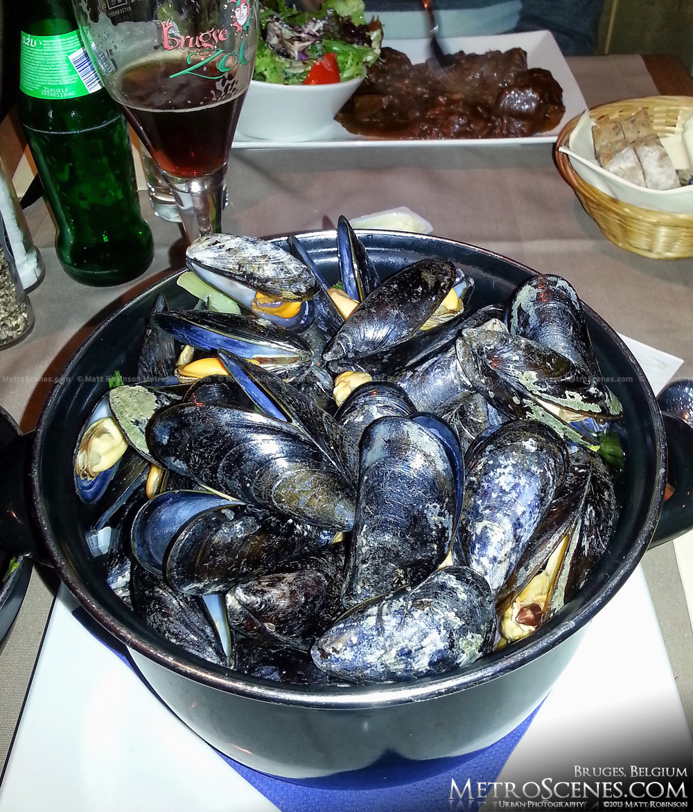 Mussels from Poules Moules, Bruges
