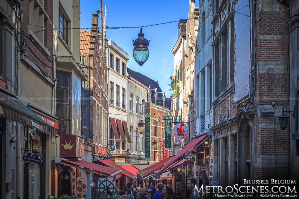 Restaurant row Rue de Bouchers