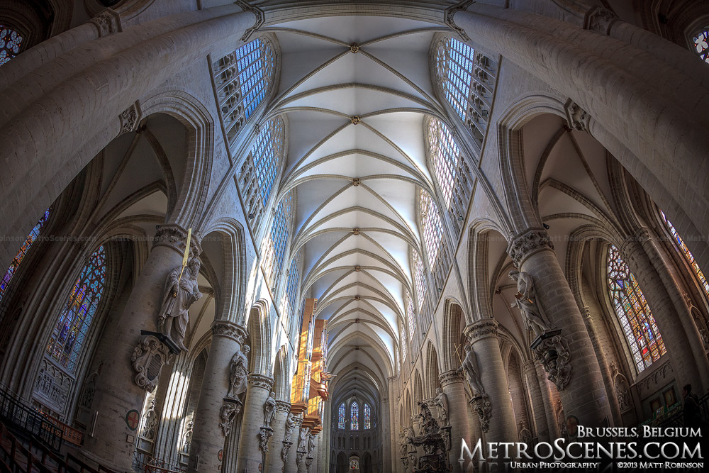 Interior of Cathedral of St. Michael and St. Gudula