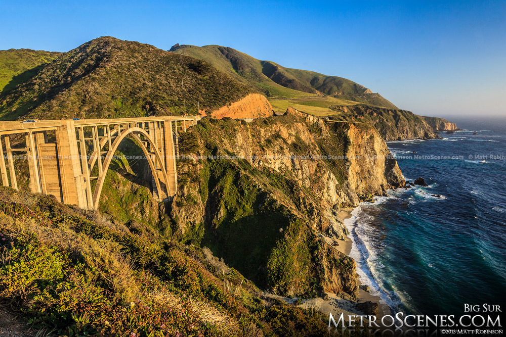 Bixby Creek Bridge on the Pacific Coast Highway in Big Sur, California