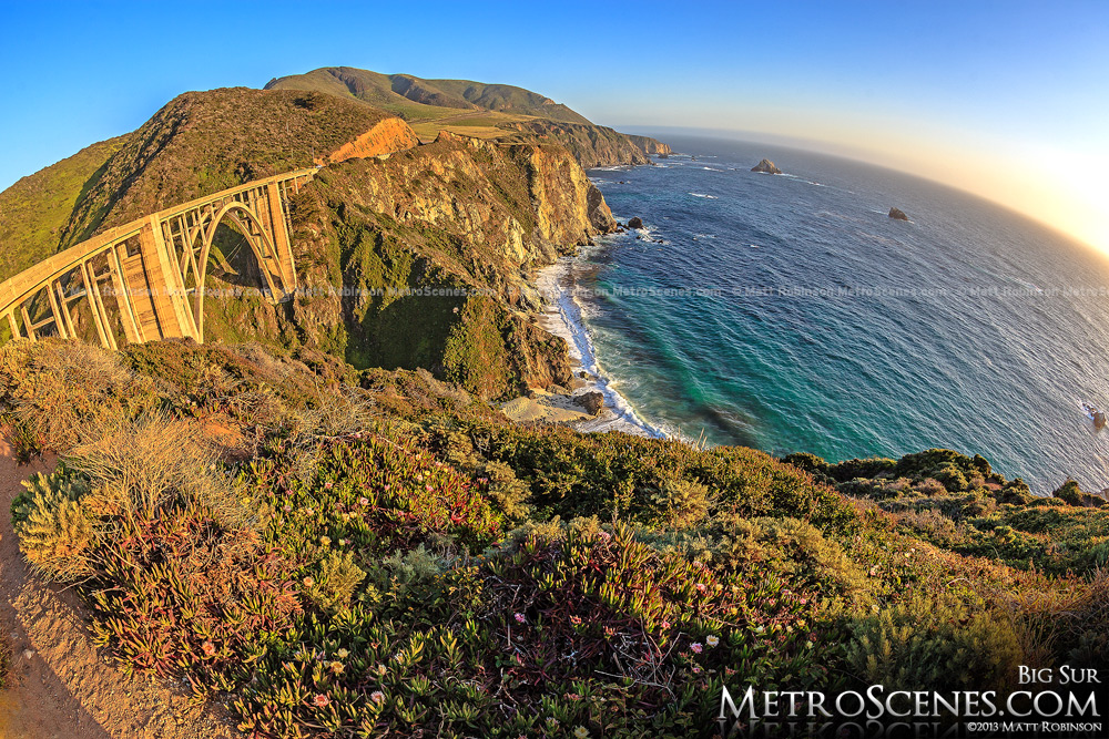 Fisheye over Bixby Bridge