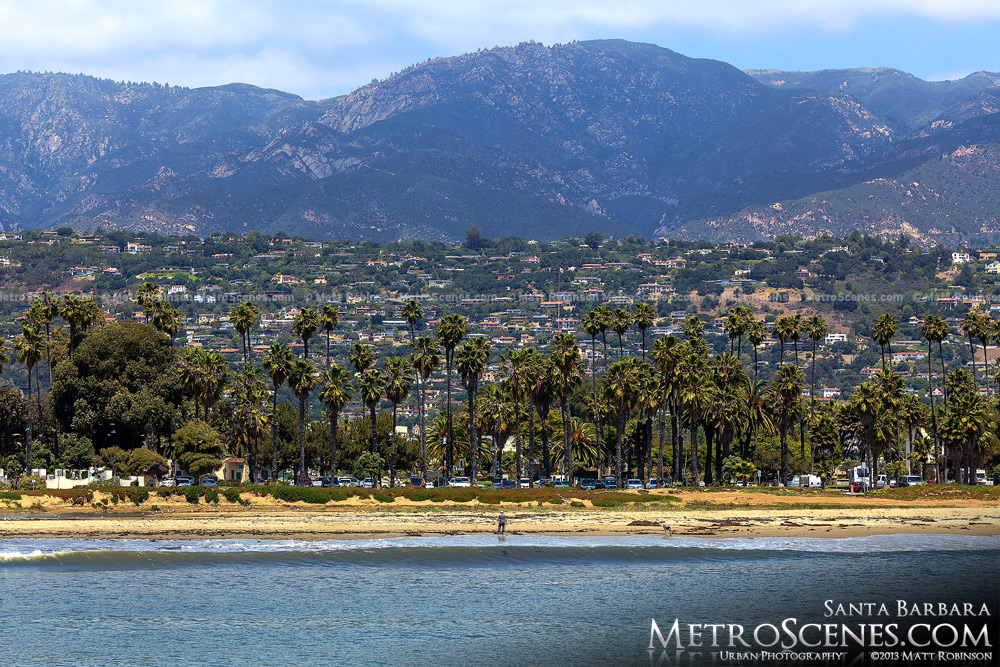 Santa Barbara with mountains