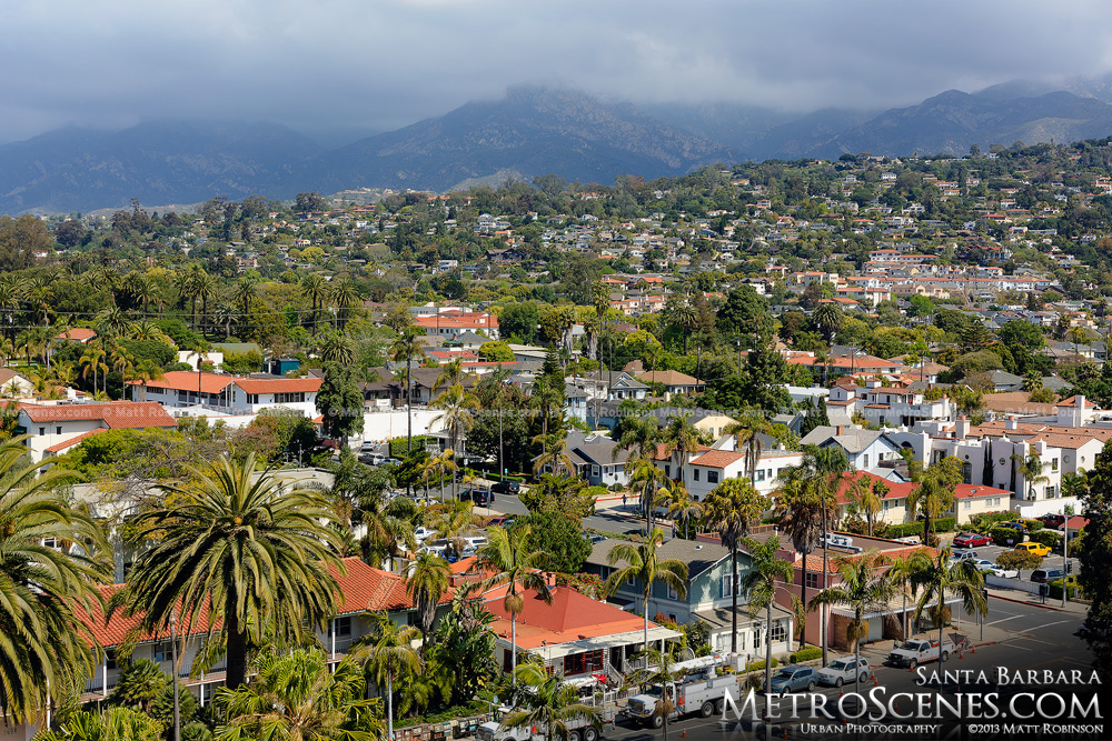 Santa Barbara from the Courthouse Clocktower