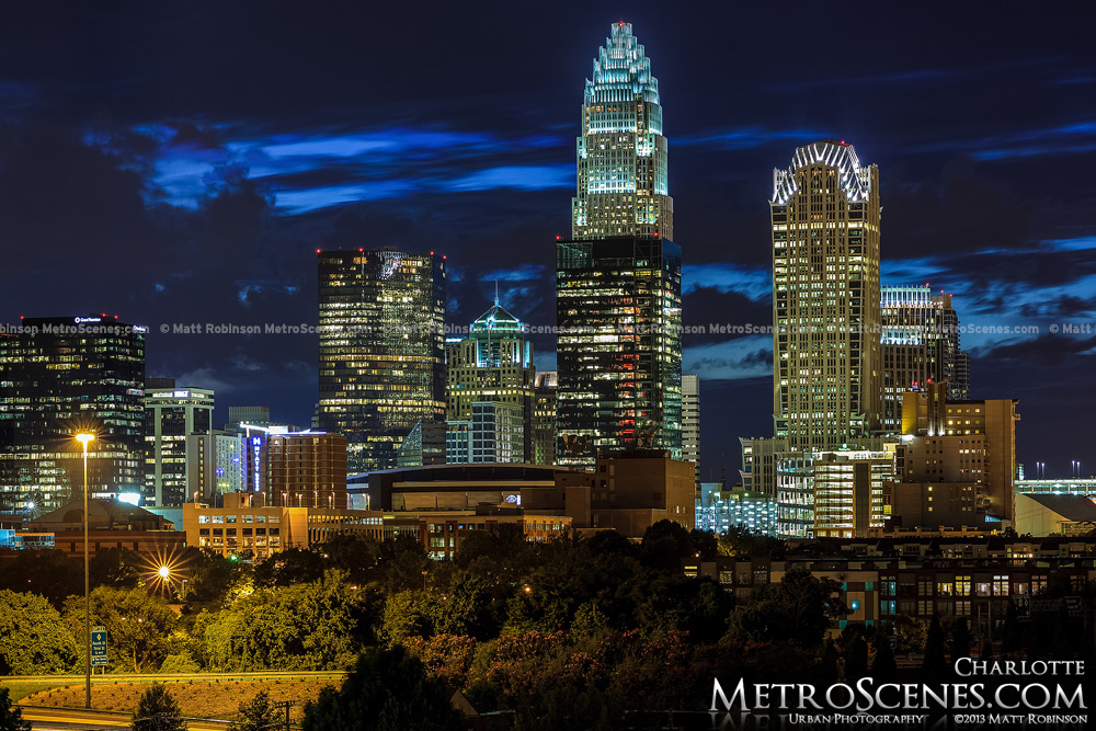 Charlotte Skyline at night 2013