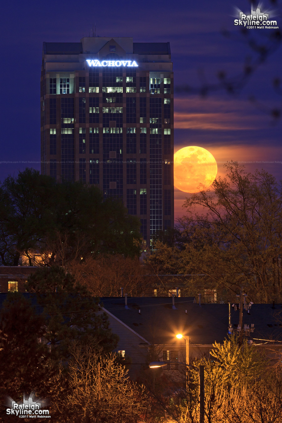 Raleigh supermoon
