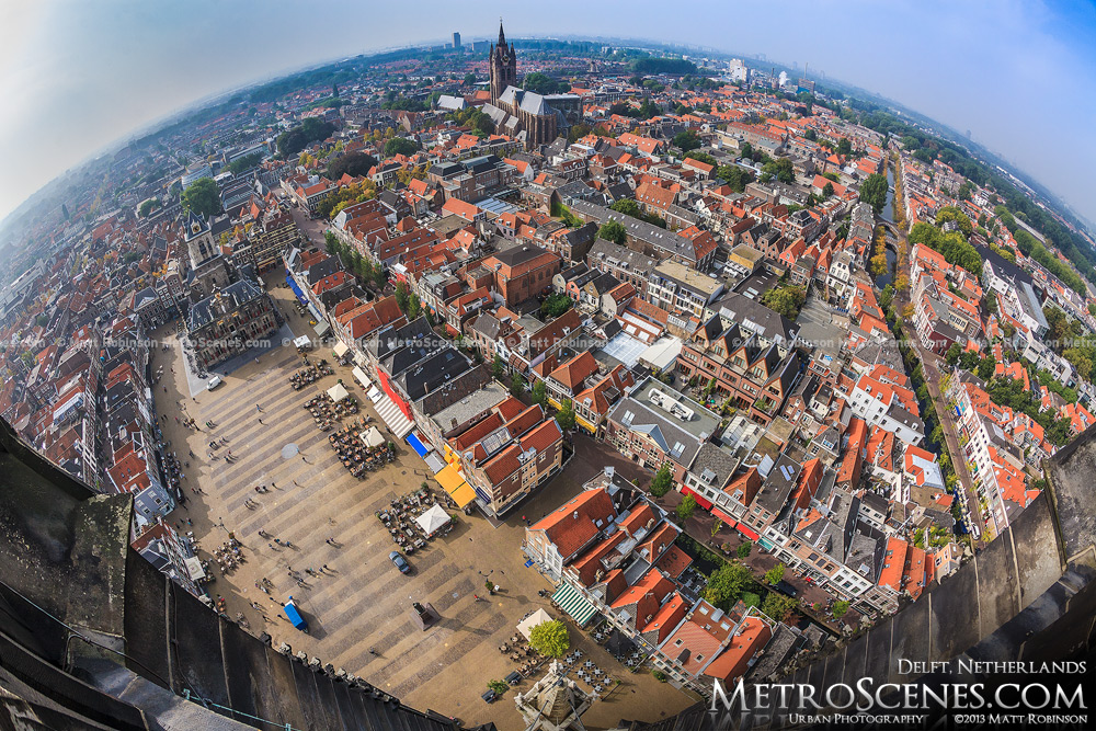 Fisheye over Delft, Netherlands