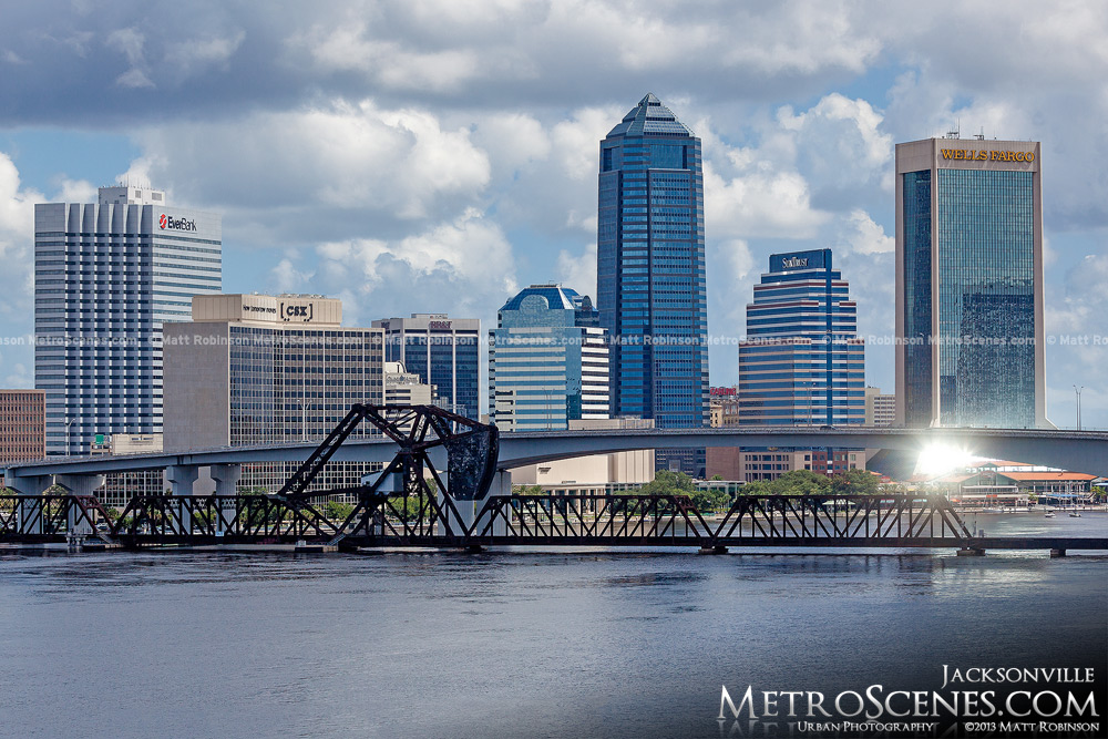 Jacksonville Skyline 2013 from Interstate 95