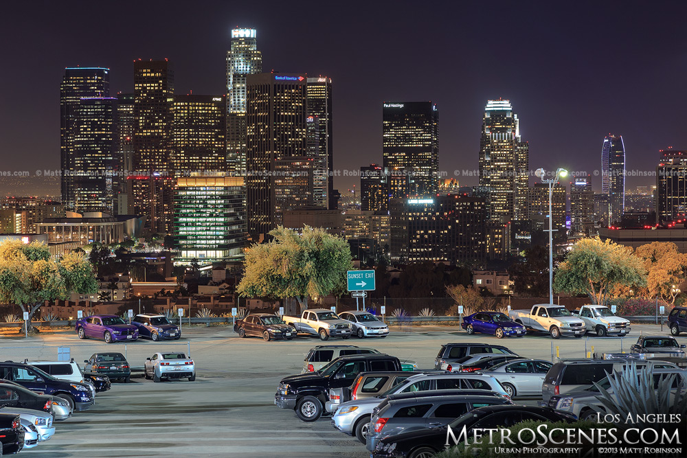 Downtown Los Angeles from Dodger Stadium