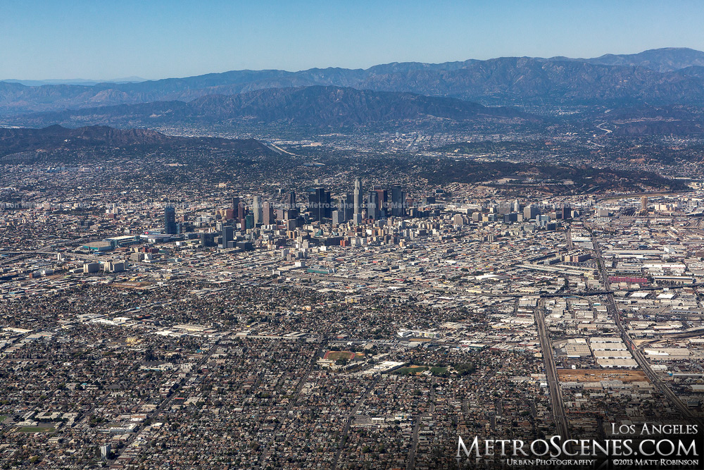 Downtown Los Angeles Aerial